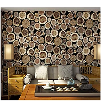 Eurotex Textured Vinyl Pvc Coated 3d Netural Wood Block Design Wallpaper Home Decoration 57sqft 1101 Amazon In Home Improvement