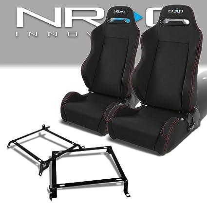 Amazoncom Pair Of RSTRLGBK Racing SeatsMounting Bracket For Honda - Acura integra seats