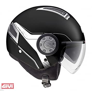 Givi HPS 11.1 AIR DEMI Casco, tipo jet, color Negro Mate