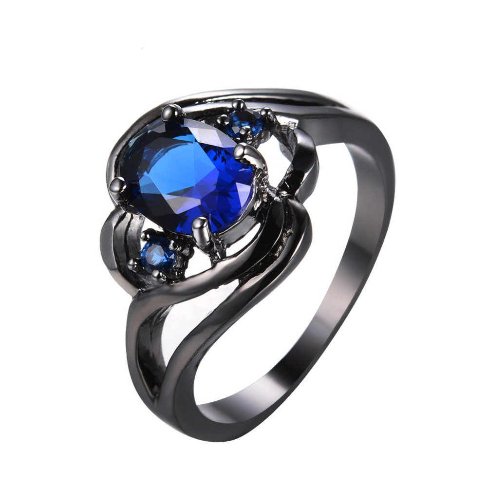 T/&F-Jewelry Blue Sapphire Jewelry Wedding Ring For Women Engagement Wedding Rings
