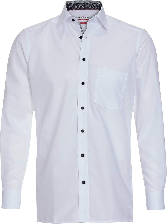Marvelis Business - Camisa con cuello Blanco 47: Amazon.es: Ropa y accesorios