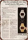 1973Pulsar Primer LED reloj digital, diseño clásico de reproducción Tin Sign-Placa de metal 30,5x 45,7cm