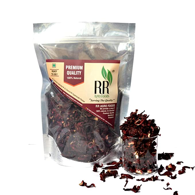 R R Agro Foods Pure Dry Hibiscus Rosella Flowers 200g Amazonin