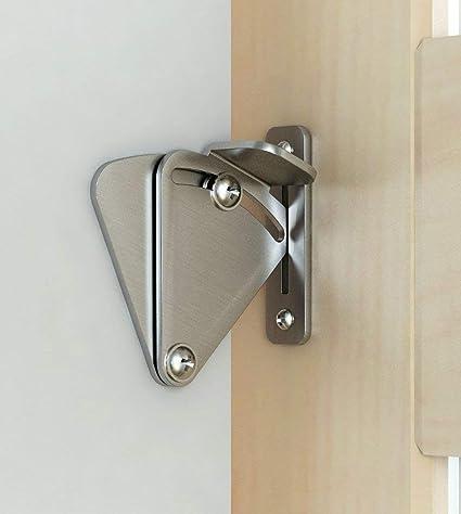 Cerradura de puerta de granero de acero inoxidable Cerradura de puerta de granero de acero inoxidable cerradura de puerta de granero negro Cerradura ...