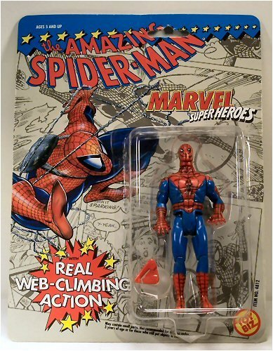The Amazing Spider-Man Action Figure with Real Web-Climbing by Toy Biz