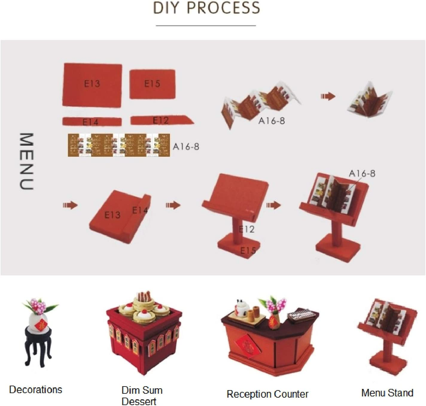 Architecture Model kit with Dust Cover English Manual Asian DimSum ...