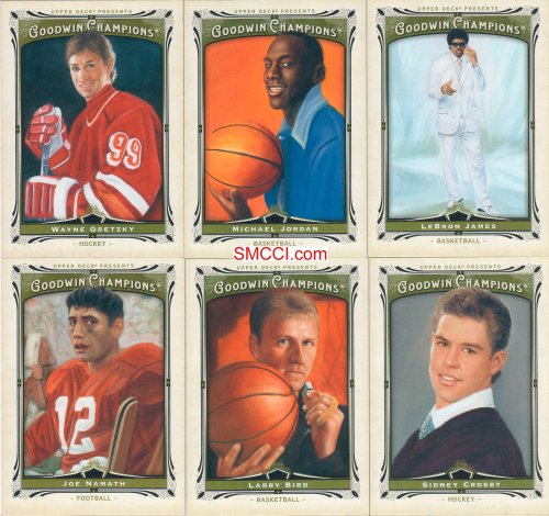 2013 Upper Deck Goodwin Champions Series Complete Mint Basic 150 Card Set. This Multi-sport Set Contains a Veritable