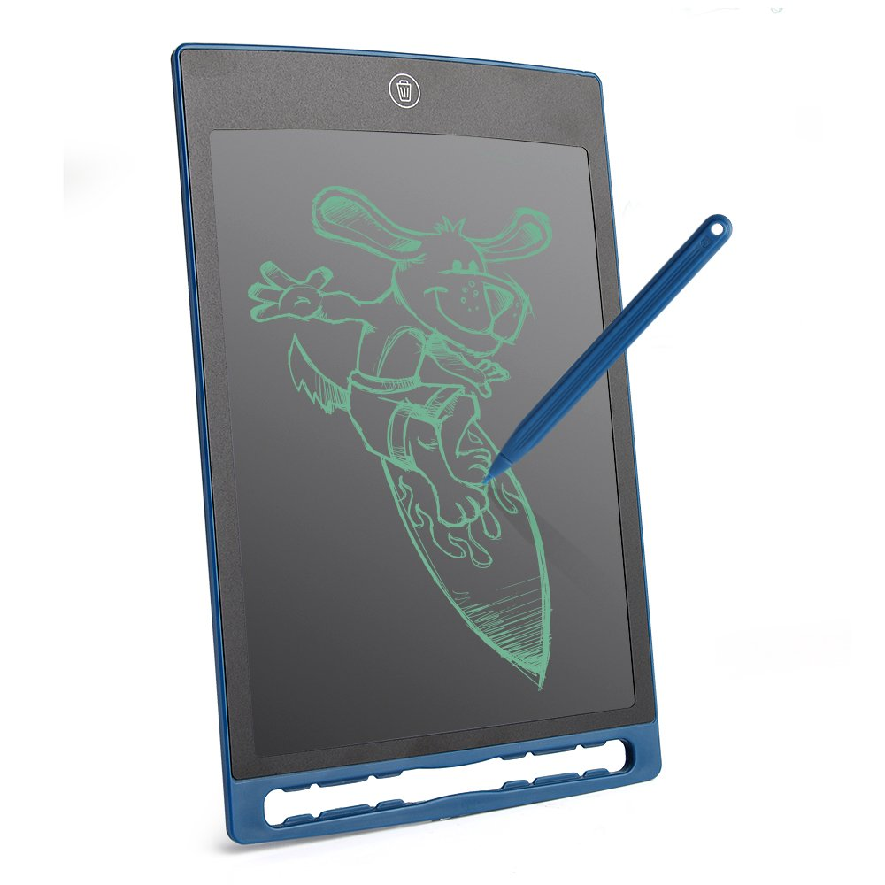 LCD Writing Tablet 8.5 Inch Hnadwriting Drawing Painting Pad for Office Whiteboard Memo and Kids Gift (Blue) by ANOTEK