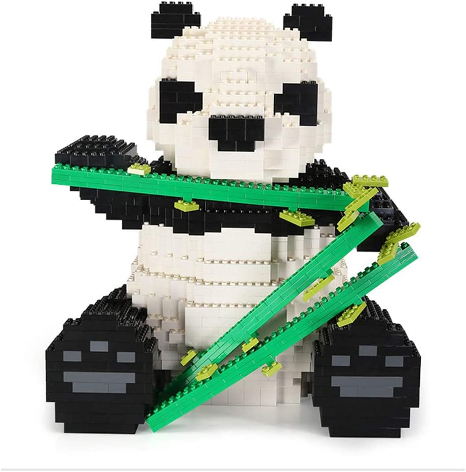 建物漫画クマ猫パンダ動物ペット3dモデル2000ピースパズルナノブロックレンガアセンブリdiyのおもちゃギフト幼稚園の装飾、2サイズ White L