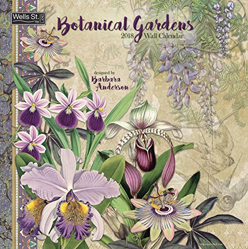Botanical Gardens 2018 Monthly Wall Calendar 12x12 Inches - Includes One Sheet of 240 Reminder Stickers