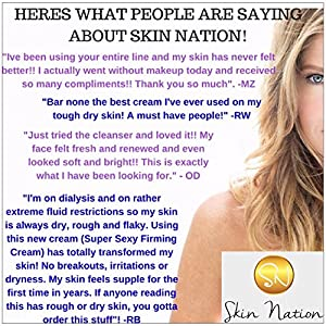 Scrubalicious Exfoliator with Natural Active Anti-aging Ingredients, MSM + Jojoba Beads for the Best Deep, Gentle Exfoliation Skin Rejuvenation and Anti Wrinkle Scrub! Skin Nation by Michelle Stafford