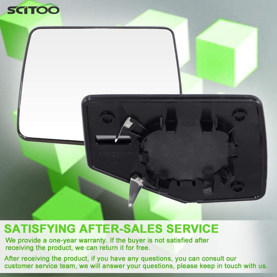 SCITOO Replacement Mirror Glass Driver Side Mirror Fit Compatible with 2006-2011 for Ford Ranger 2006-2010 for Ford Explorer Mercury Mountaineer for Ford Explorer Sport Trac Non-Heated