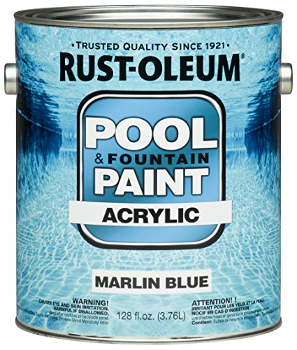Rust-Oleum 269357 Acrylic Pool and Fountain Paint, 1-Gallon, Marlin Blue, 2-Pack