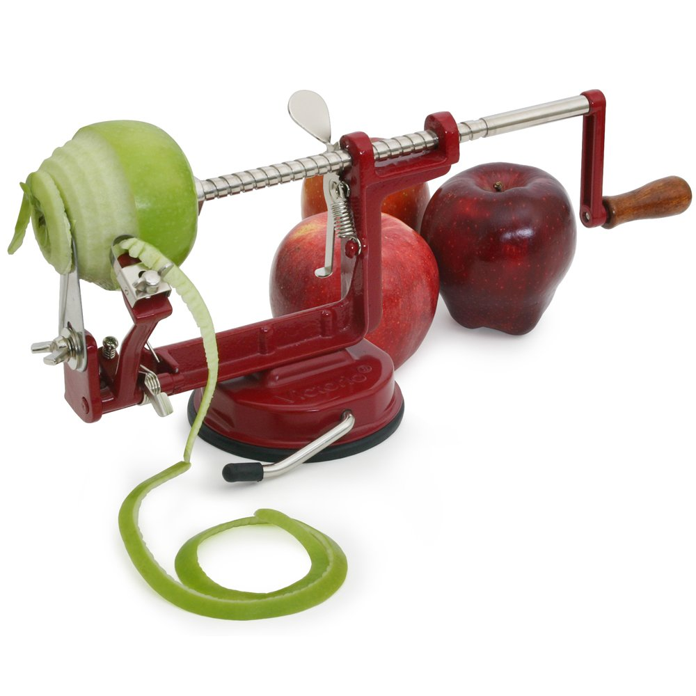 Apple Master: Johnny Apple Peeler by VICTORIO VKP1010, Cast Iron, Suction Base | amazon.com