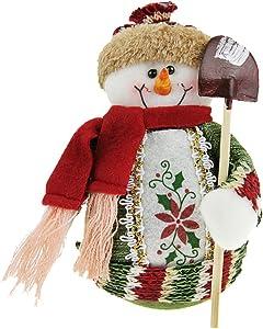 BXT Christmas Decorations Santa Claus/Snowman/Elk Figure Plush Toy Doll Christmas Party Tree Decor Ornaments Home Indoor Table Fireplace Shelf Window Sitter Figurine Decoration Presents