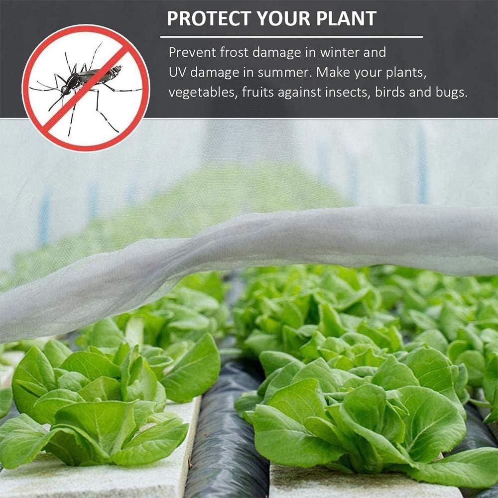 Xkfgcm 6 2.5m Rete per Uccelli Rete Anti-Uccelli Net Insetti Protezione Net Garden Reticolato Rete Protezione Reticolato Protect for Piantine Proteggere Ortaggi Piante 10 Pezzi di Chiodi a Terra