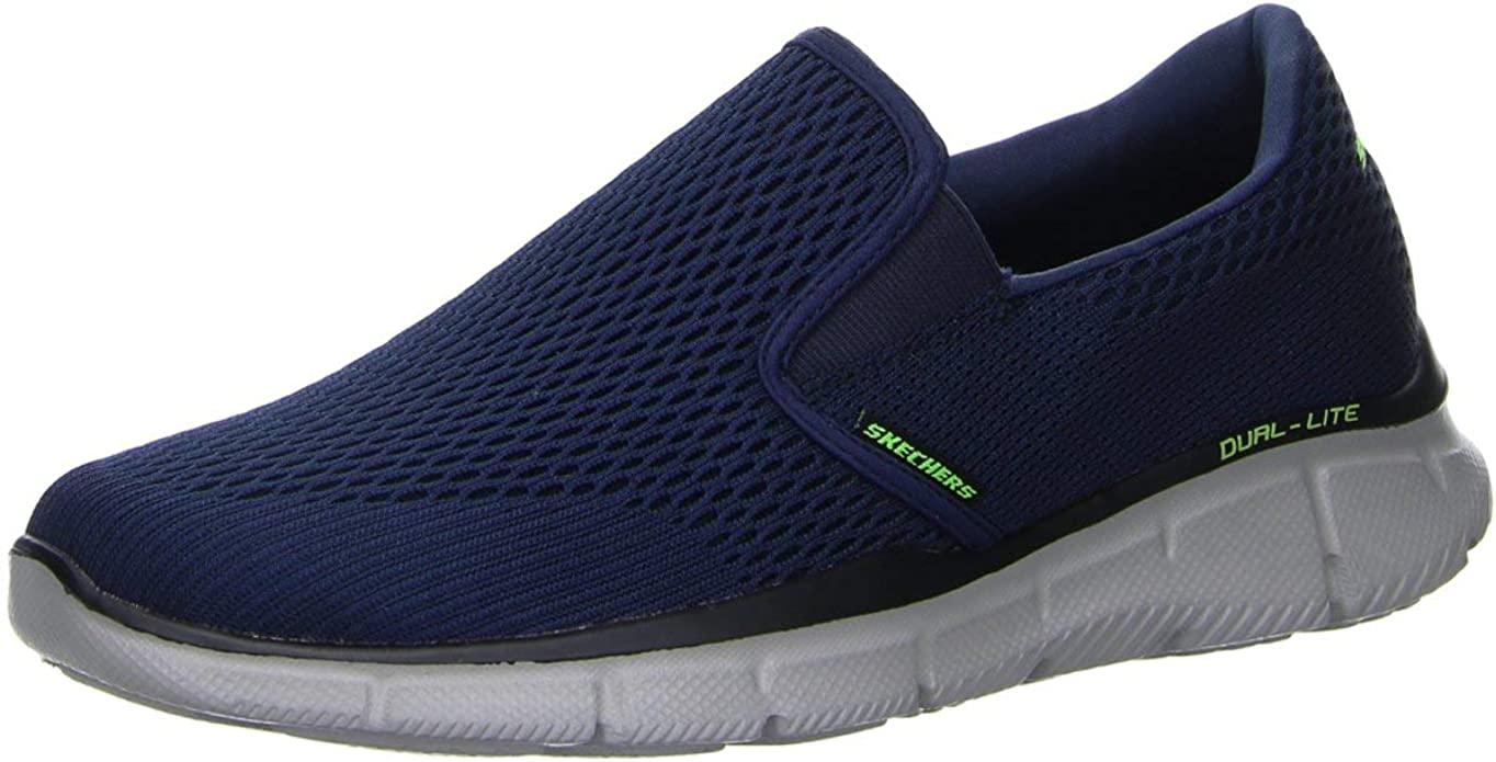 Skechers Equalizer Double Play Sneakers Herren Blau/Grau/Grün