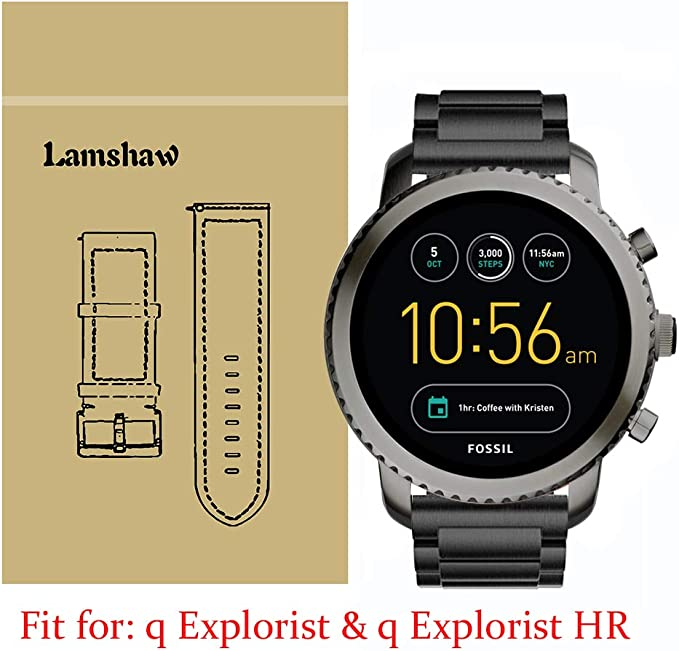 Lamshaw Smartwatch Banda para fósiles Q eXplorist, Acero ...