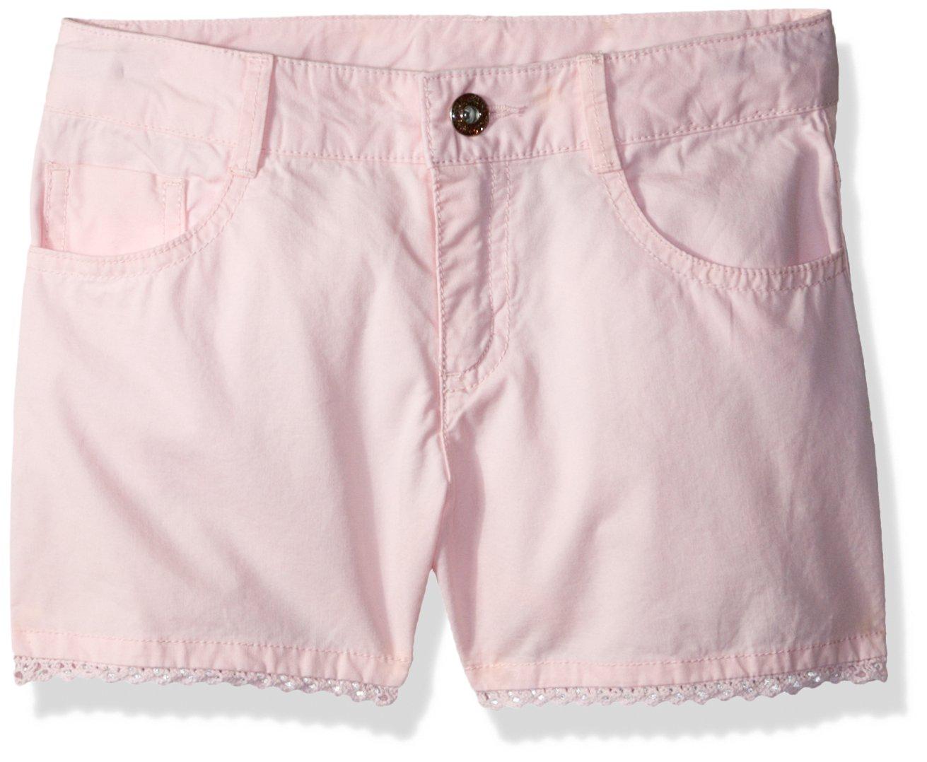 Gymboree Little Girls' 5 Pocket Woven Shortie, Petal Pink, 4