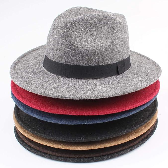 bee1b0e85c1 Buy Segolike Women Men Unisex Felt Trilby Hats Wide Brim Adjustable Fedora  Jazz Hat Caps Online at Low Prices in India | Amazon Jewellery Store -  Amazon.in