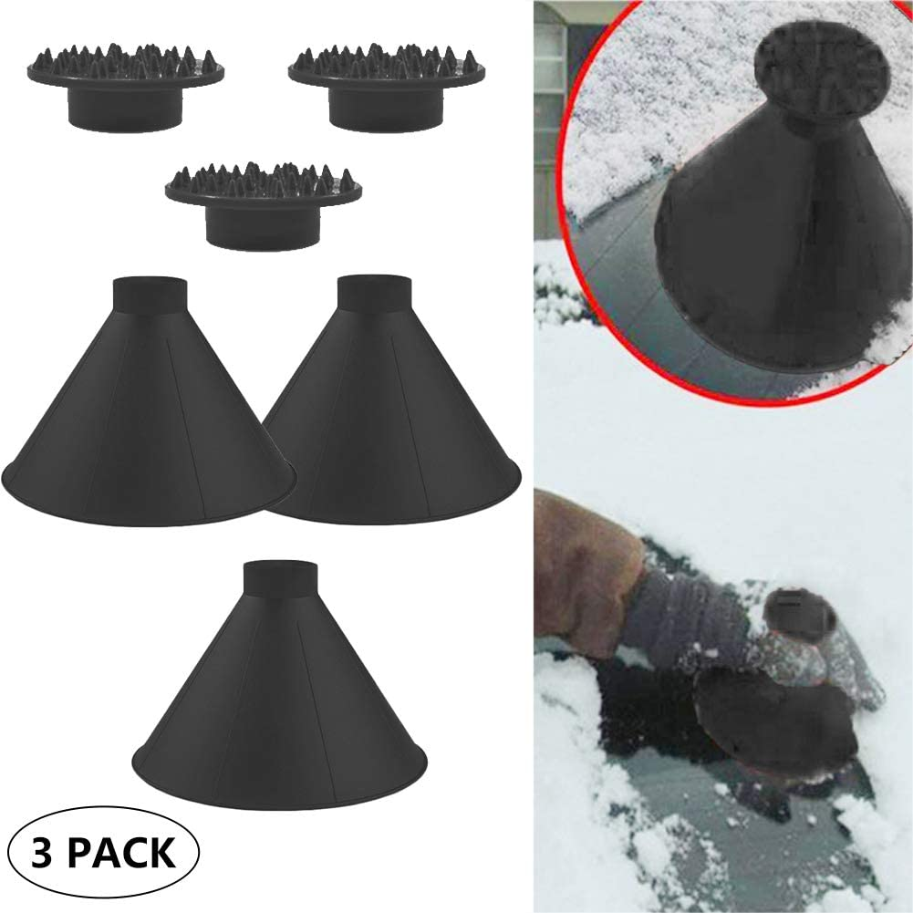 Cone-Shaped Round Windshield Ice Scraper Magic Scraper Car Windshield Snow Scrapers Magic Funnel Snow Removal Shovels Tool 1 red