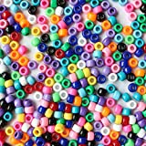 plastic beads for jewelry making - Opaque Multicolor Mix Plastic Pony Beads 6x9mm, 500 beads bulk bag