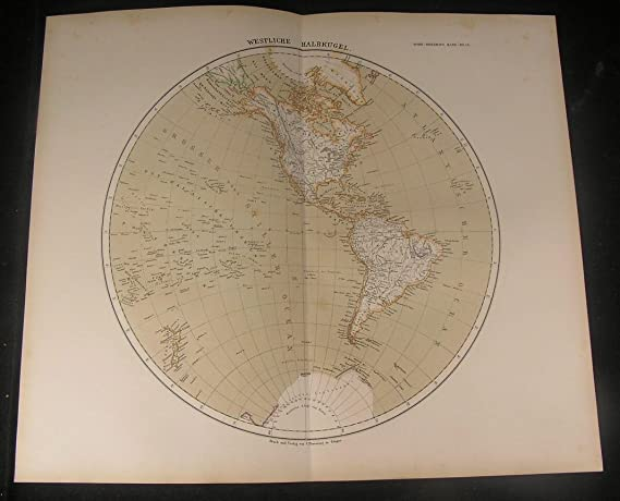 Western North America Map.Western Hemisphere North America Brazil Mexico 1886 Antique Color