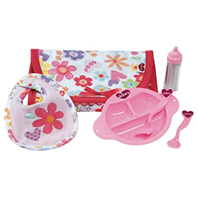 Adora Baby Doll 6 Piece Feeding Set with Bib & Bottle: Toys & Games
