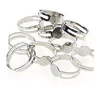 Supports de bagues réglables pour la création de bijoux fimo - Lot de 10 / Tamis : 8