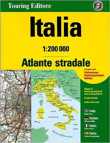 Cartina Stradale Di Italia.Amazon It Atlante Stradale Italia 1 200 000 Cofanetto Touring Libri