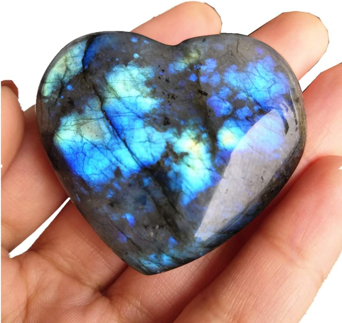 Amazon.com: Loveliome Natural Labradorite Crystal, 1.6-1.8 Inch ...