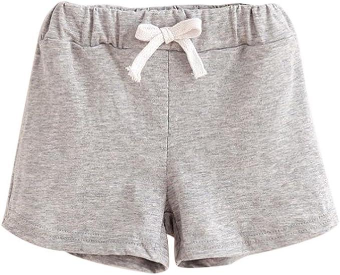 Logobeing Verano Ropa Bebe Pantalones Cortos de Algodón Niños y ...