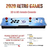 HAAMIIQII [2200 HD Retro Games] Pandora Treasure 3D Box Arcade Game Console 1920x1080 Full HD 2 Players Arcade Machine Support TF Card to Add More Games for PC / Laptop / TV / PS3