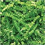 Abc 10 lb Natural Crinkle Cut Eco-Spring Fill, Filler for Gift Baskets and Boxes. 10 lb. Box, ''Color Lime''