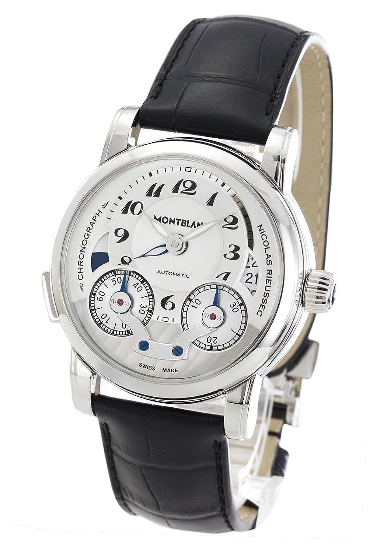 モンブラン ニコラリューセック クロノグラフ アリゲーターレザー 腕時計 メンズ MONTBLANC 106595[並行輸入品] B07D55GX3L