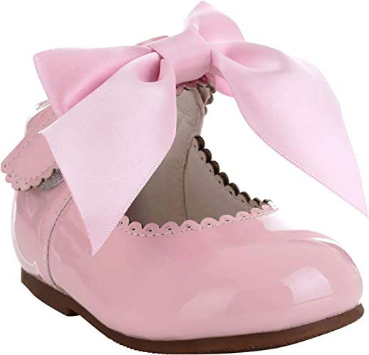 Girls Bridesmaids Party Shoes Patent Shoes Infant Sizes UK 3,4,5,6,7,8,9,10