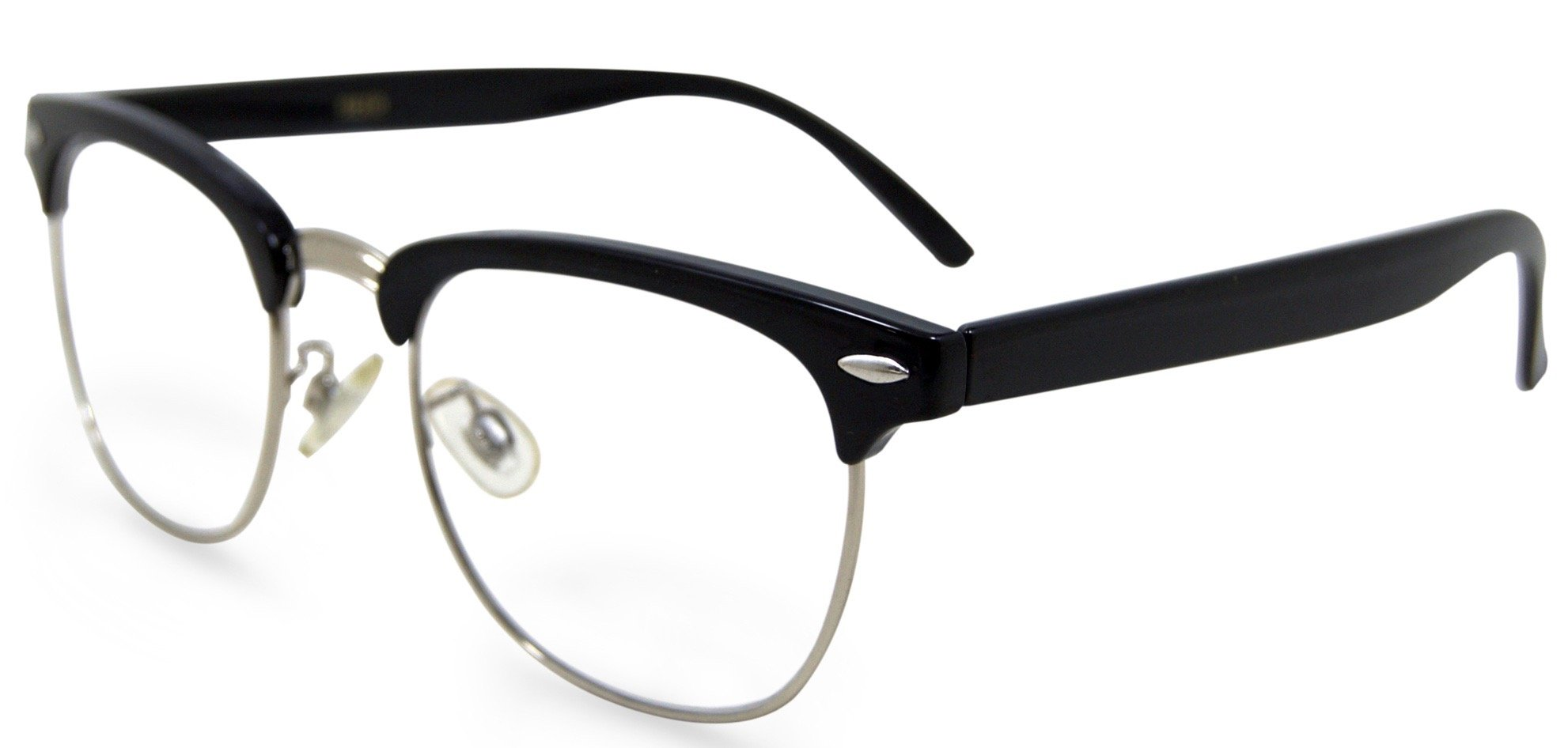 In Style Eyes Sellecks Designer Reading Glasses for Both Men & Women/Black/1.25