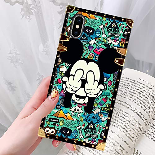 DISNEY COLLECTION Phone Case Fit for iPhone Xs Max (6.5 inch) Micky Makes Faces Luxury Fashion Cool Cartoon Cute Bumper Shockproof Cover