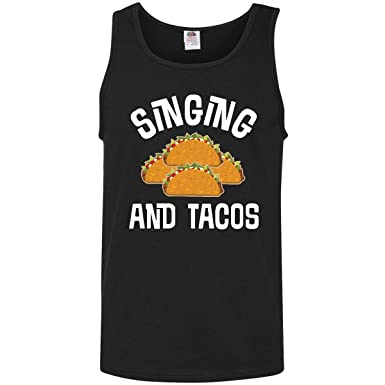 97678fa3f inktastic - Singing and Tacos Funny Choir Men's Tank Top Small Black 2ff9f