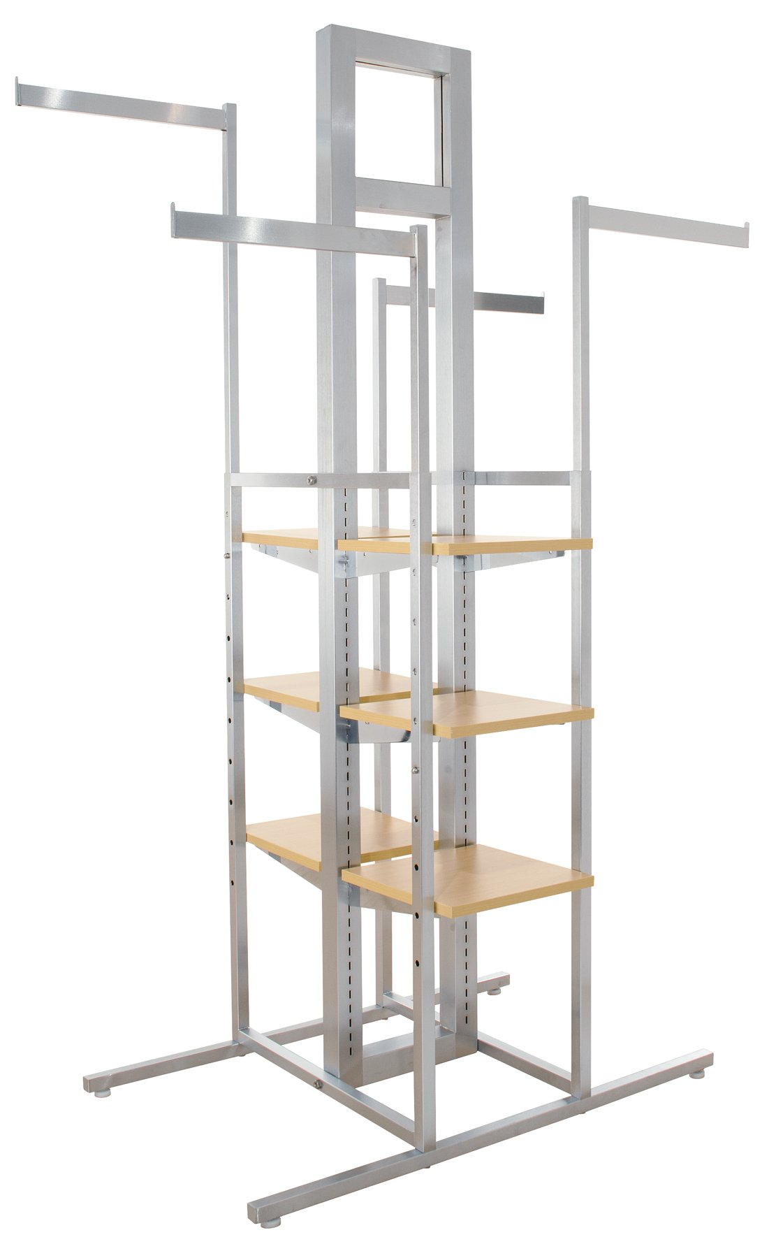 Econoco Cross Merchandising 4-Way Rack, 44'' Length x 24'' Width x 72'' Height by Econoco (Image #1)