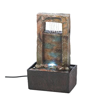 Fountain For Home Decoration stone waterfall fountain with led lights Koehler Home Decor Cascading Water Tabletop Fountain