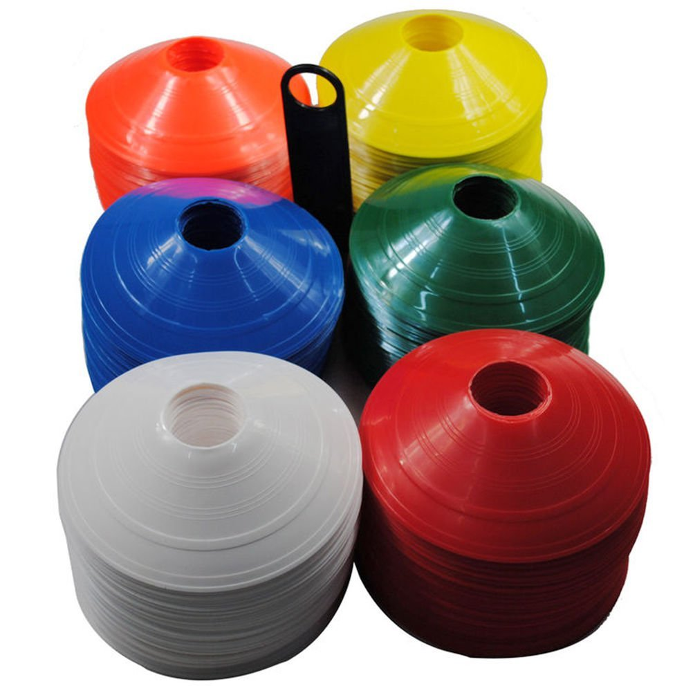 10x Football Rugby Sport Cross Training Space Marker Soccer Cone Saucer OHK