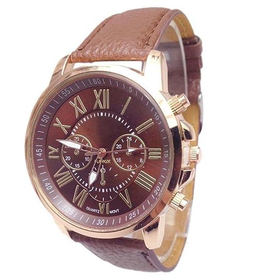 Para mujer reloj de cuarzo, poto 2017 mujeres señoras piel analógica muñeca reloj de pulsera regalo: Amazon.es: Relojes