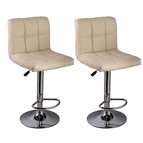Set of 2 Bar Stool PU Leather Barstools Chair Adjustable Counter Swivel Pub  sc 1 st  Amazon.com & Amazon.com: Set of 2 Bar Stool PU Leather Barstools Chair ... islam-shia.org