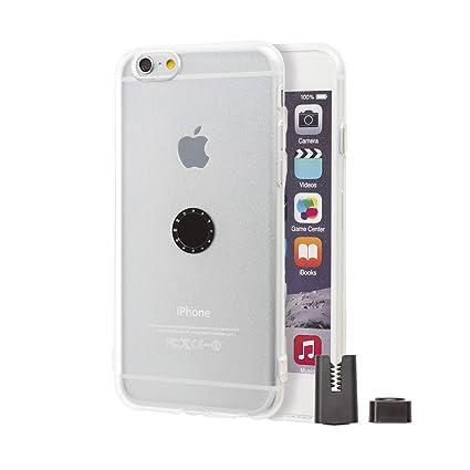 1af1fd45b79 Funda con Soporte magnético para coche iPhone 6 / 6S - Transparente con  Soporte Magnético para