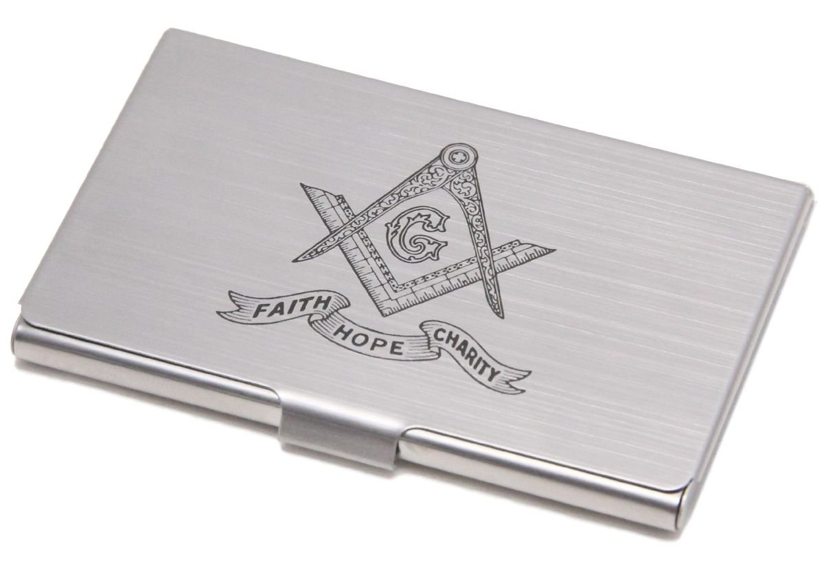 Quality Business Card Holder Brushed Silver Color by FG