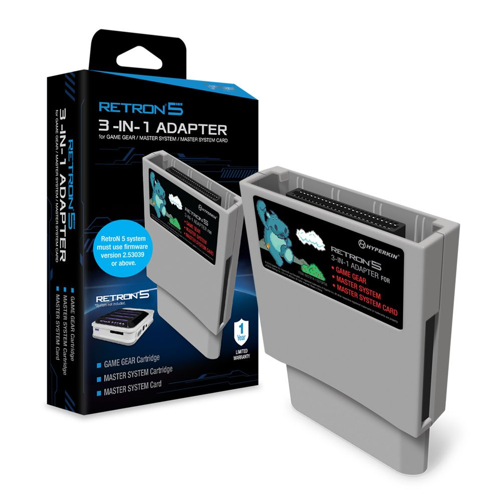 Hyperkin RetroN 5 3-in-1 Adapter for Game Gear, Master System, and Master System Card: Video Games