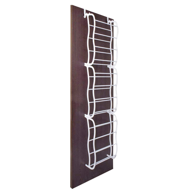 ARyee Over The Door Shoe Rack - 36 Pairs- Storage Organizer, White 72'' x 19'' by ARyee