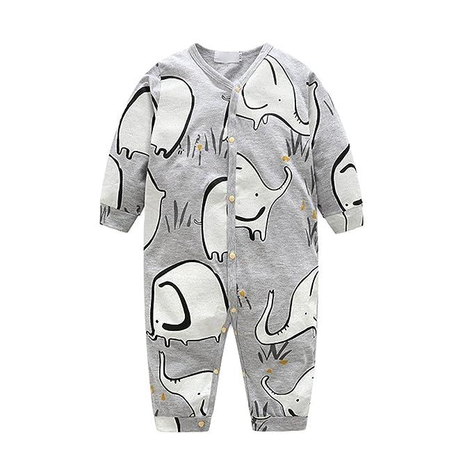 Jipai(TM Recién Nacido Pijama Bebés Algodón Mameluco Niños Peleles Caricatura Trajes Bebé Ropa de