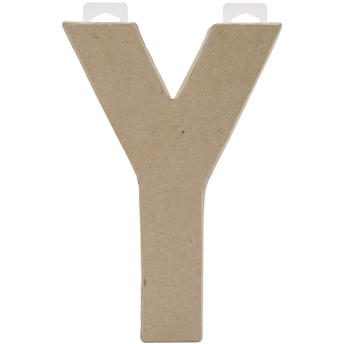 Paper Mache Letter Y 8 X 5.5 Inches (4 Pack)
